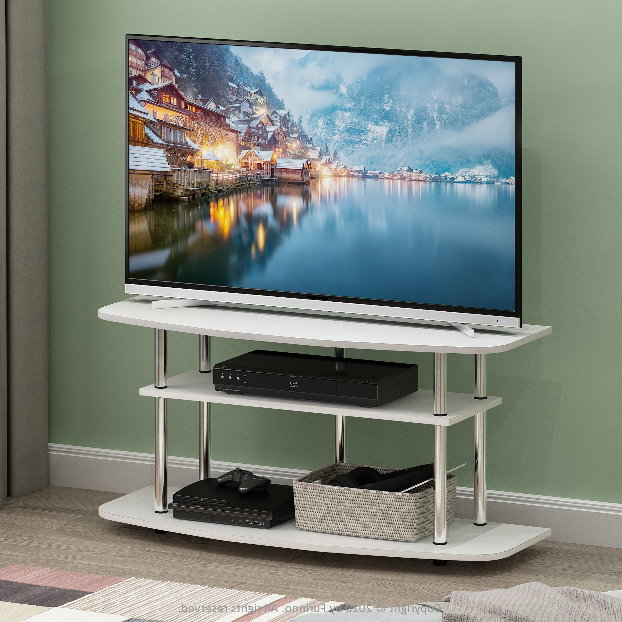 2017 Furinno Turn N Tube No Tool 3 Tier Entertainment Tv Stands Inside Furinno Frans Turn N Tube 3 Tier Tv Stand For Tv Up To  (View 3 of 10)