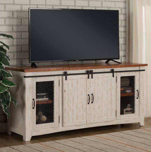 """2017 Kinsella Tv Stands For Tvs Up To 70"""" For Belen Solid Wood Tv Stand For Tvs Up To 70 Inches (View 7 of 25)"""