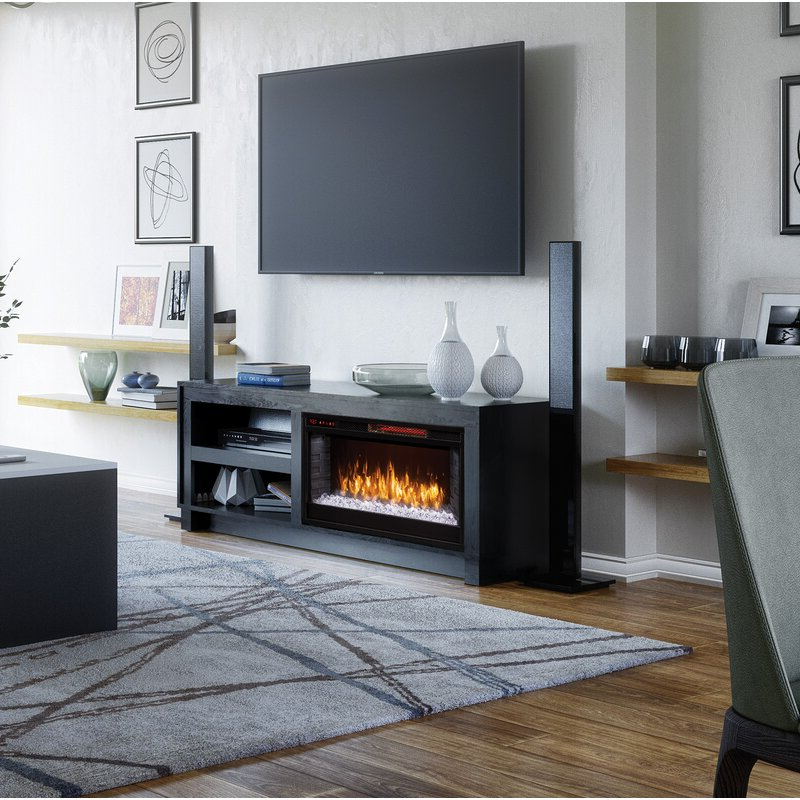"""2017 Lorraine Tv Stands For Tvs Up To 60"""" With Fireplace Included For Scott Living Tv Stand For Tvs Up To 60"""" With Electric (View 23 of 25)"""