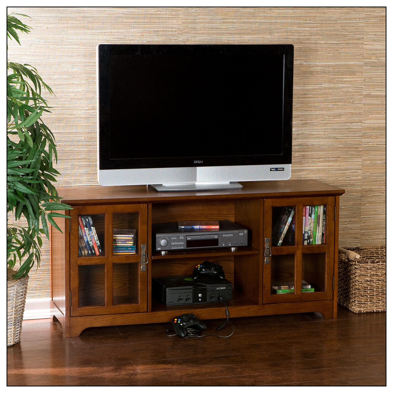 """2017 Sei Tv Stand For Most Flat Panel Tvs Up To 50"""" Mission Oak In Caleah Tv Stands For Tvs Up To 50"""" (View 11 of 25)"""