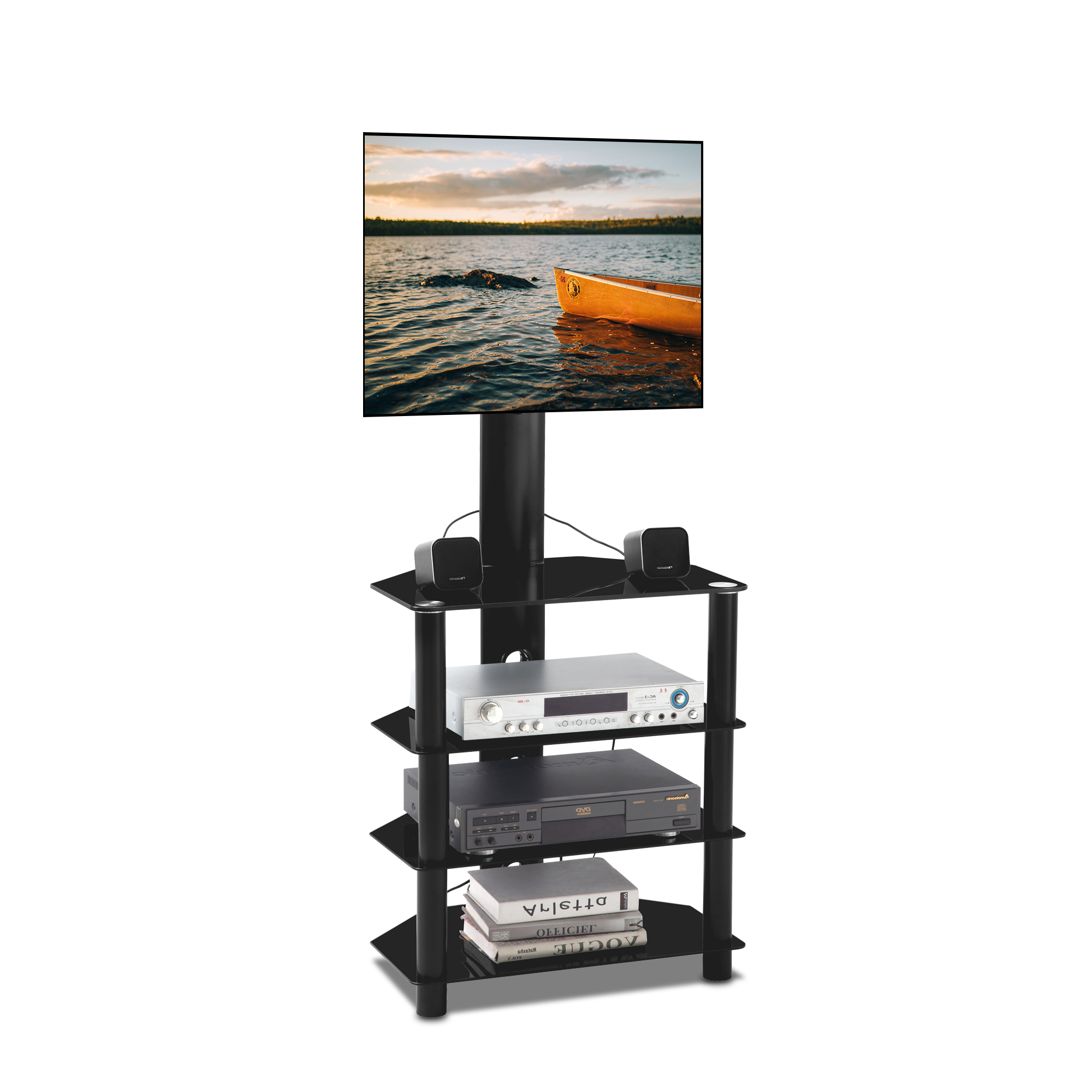 2017 Swivel Floor Tv Stands Height Adjustable With Regard To Tv Stand Base, Swivel Universal Tv Stand, Height And Angle (View 5 of 10)