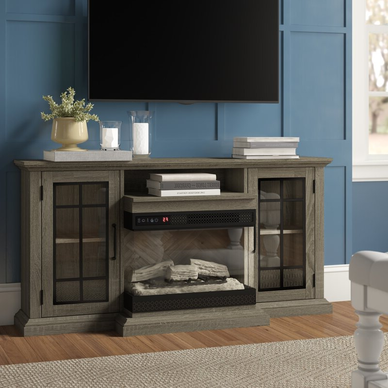 """2017 Three Posts™ Aubriella Tv Stand For Tvs Up To 65"""" With Intended For Stamford Tv Stands For Tvs Up To 65"""" (View 2 of 25)"""