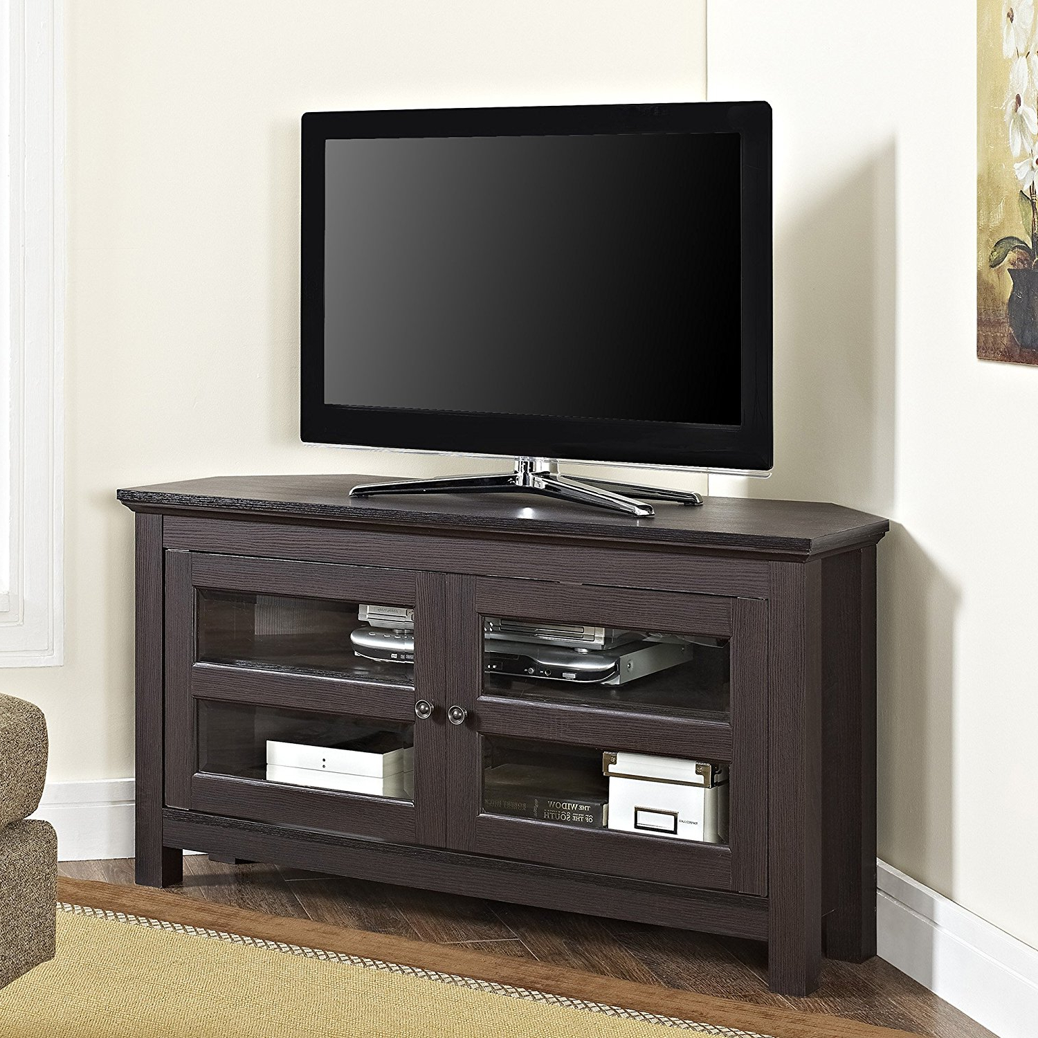 2017 Top 10 Best Modern Tall Corner Tv Stands In 2021 Reviews Throughout Priya Corner Tv Stands (View 4 of 25)