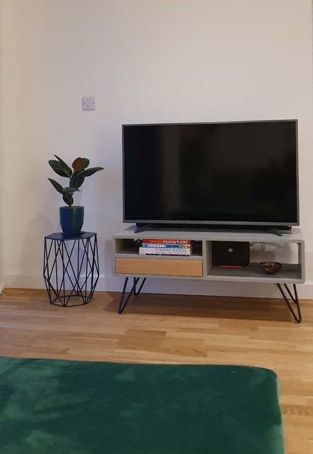 2017 Ukan Tv Stand, Grey And Oak (View 12 of 25)