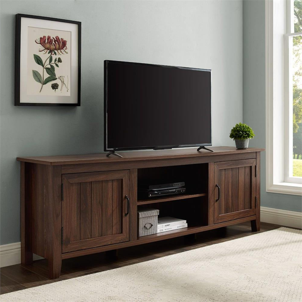 2017 Walker Edison Contemporary Tall Tv Stands For Walker Edison 70 In (View 5 of 10)