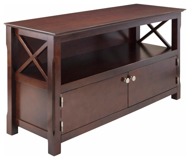 2017 Winsome Wood Zena Corner Tv & Media Stands In Espresso Finish Regarding Winsome Wood Xola Cappuccino Transitional Tv Stand –  (View 6 of 10)