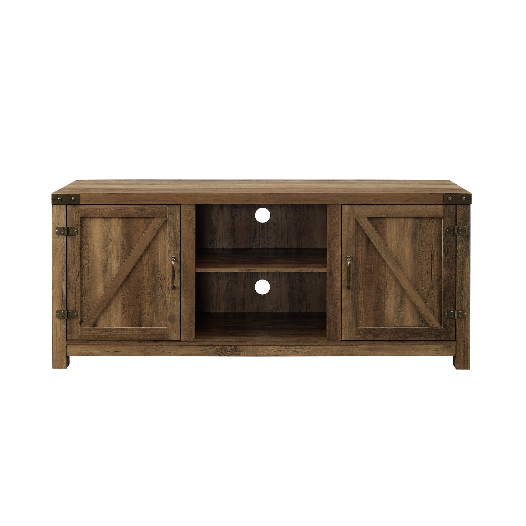 2017 Woven Paths Farmhouse Barn Door Tv Stands In Multiple Finishes Throughout Rustic Farmhouse Tv Stand Walmart / Woven Paths Farmhouse (View 5 of 10)