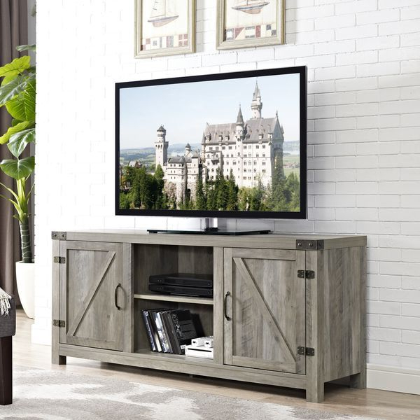 2017 Woven Paths Franklin Grooved Two Door Tv Stands For Pin On Farmhouse Modern (View 3 of 10)