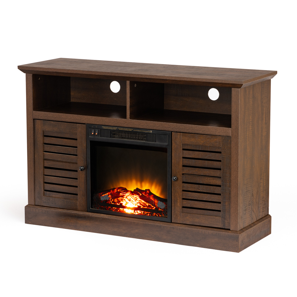 """2018 47 Inch Barn Door Wood Tv Stand With Electric Fireplace Inside Baba Tv Stands For Tvs Up To 55"""" (View 20 of 25)"""