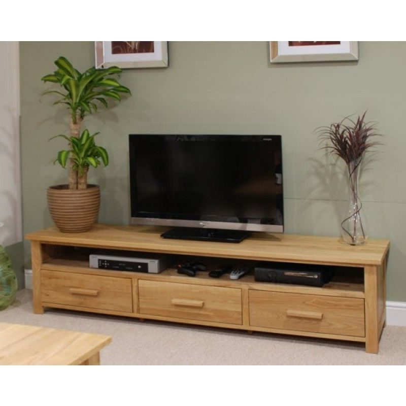 2018 Anya Wide Tv Stands Within Opus Oak Furniture Wide Plasma Tv Unit (View 3 of 10)