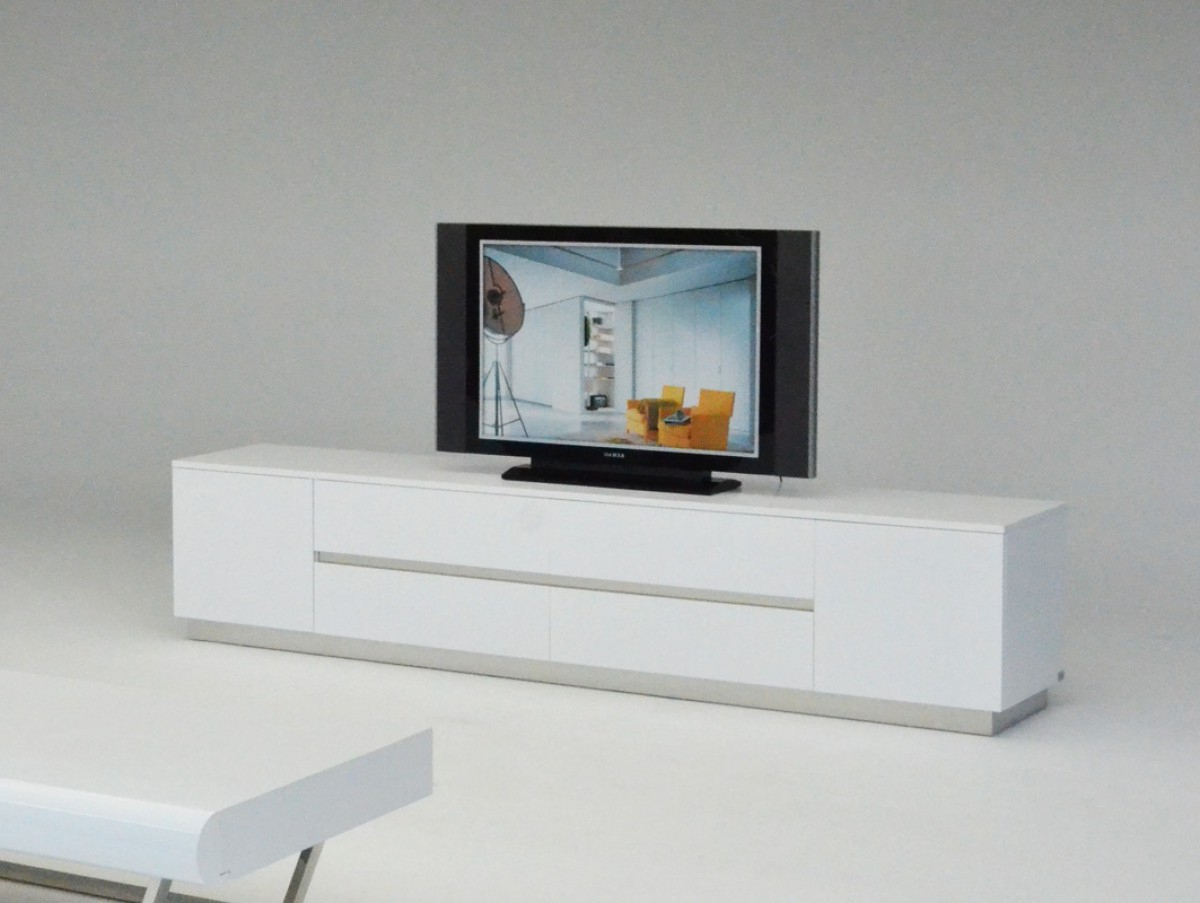 2018 A&x Skyline Modern White Crocodile Tv Entertainment Center For Hannu Tv Media Unit White Stands (View 1 of 10)
