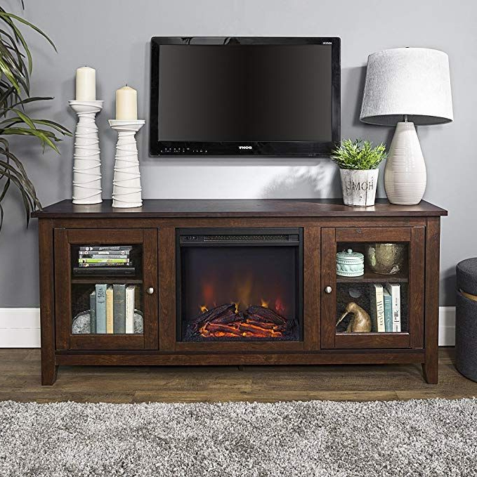 2018 Carbon Wide Tv Stands In New 58 Inch Wide Television Stand With Fireplace In (View 8 of 10)