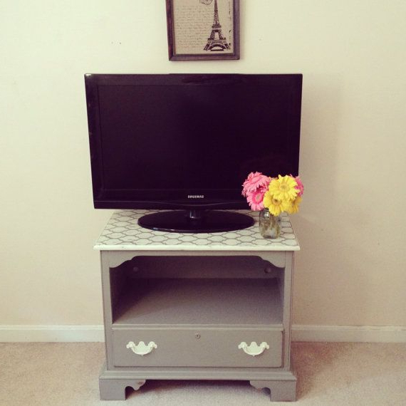 2018 Casablanca Tv Stands Within French Linen Tv Stand Or Nightstand – Chalk Painted (View 10 of 10)