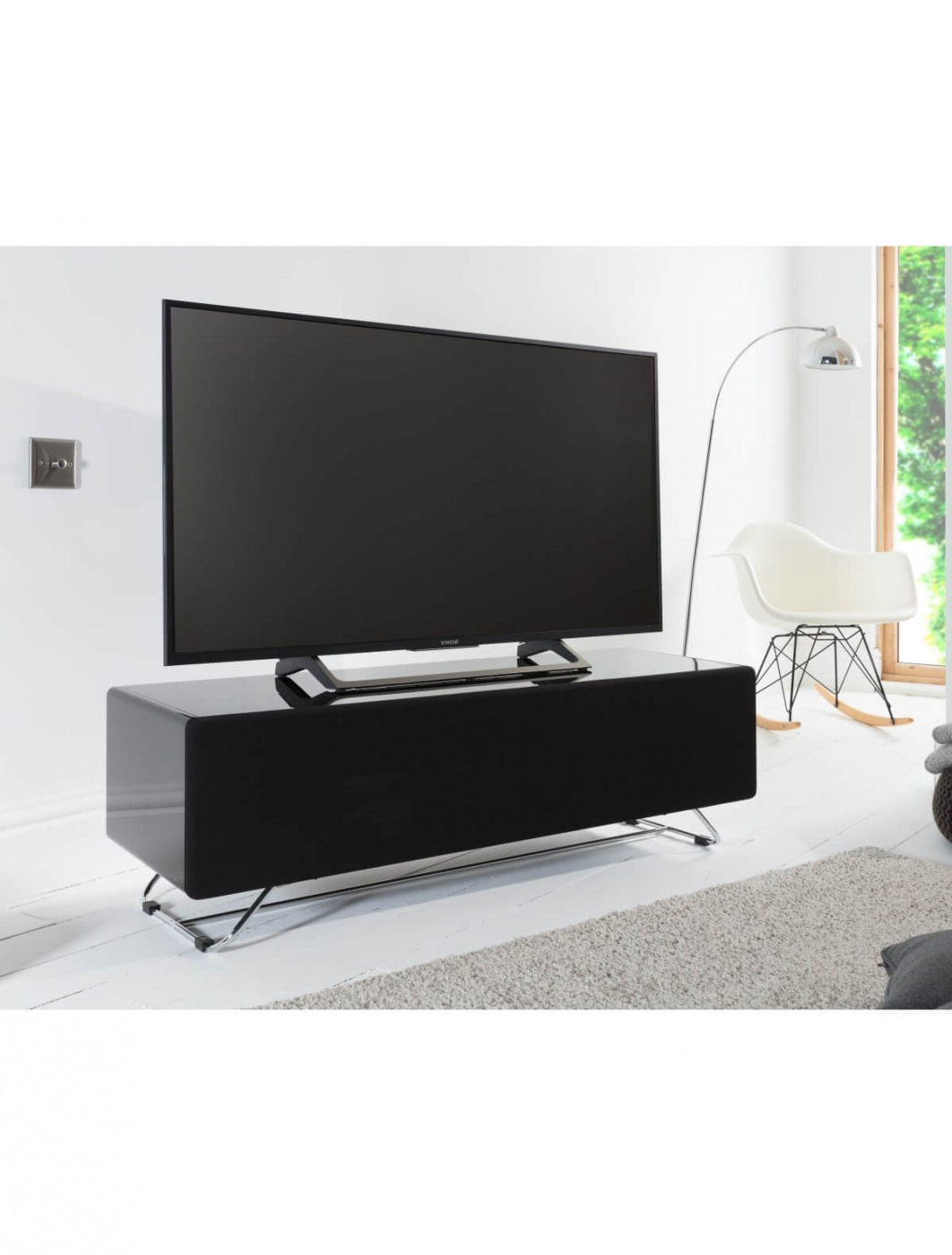2018 Chromium Tv Stands Throughout Tv Stand Black Chromium Concept 1200mm Cro2 1200cpt Bk (View 2 of 25)