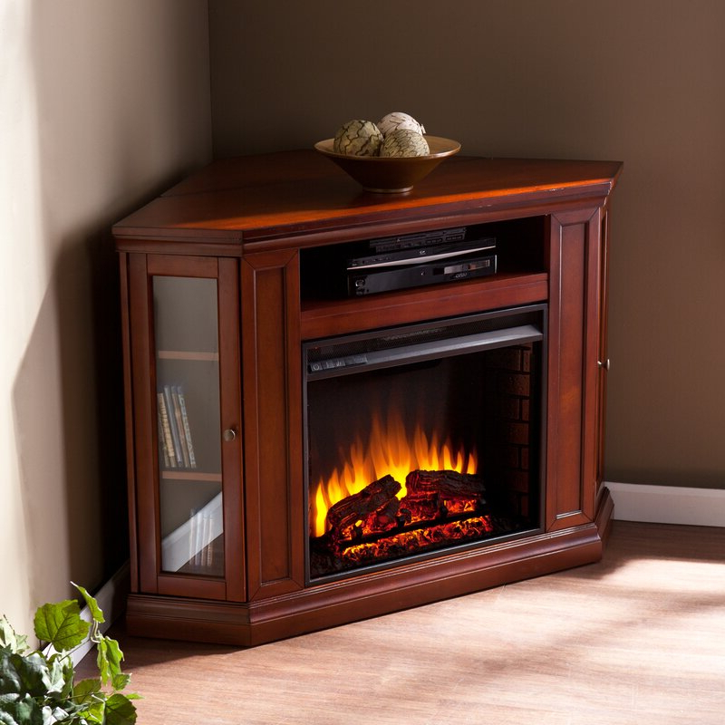 2018 Compton Ivory Corner Tv Stands With Baskets Inside Alcott Hill Dunminning Corner Tv Stand With Fireplace (View 6 of 25)