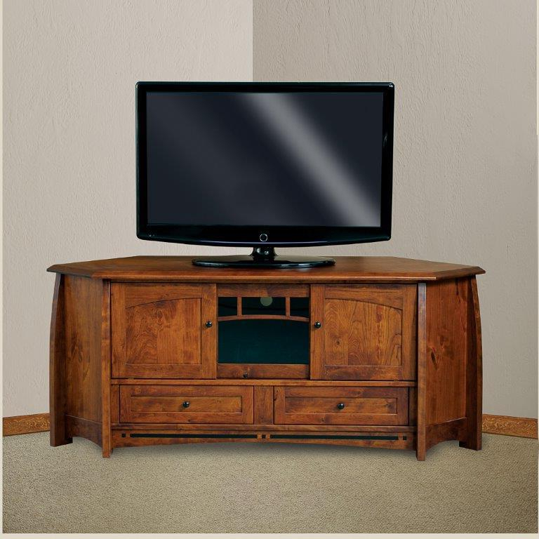 """2018 Lucy Cane Cream Corner Tv Stands In Boulder Creek 69"""" Mission Corner Tv Stand From (View 17 of 25)"""