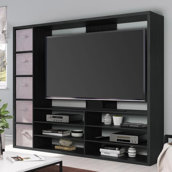 2018 Mainstays Entertainment Center For Tvs Up To 55″, Ideal Tv With Regard To Mainstays Parsons Tv Stands With Multiple Finishes (View 6 of 10)