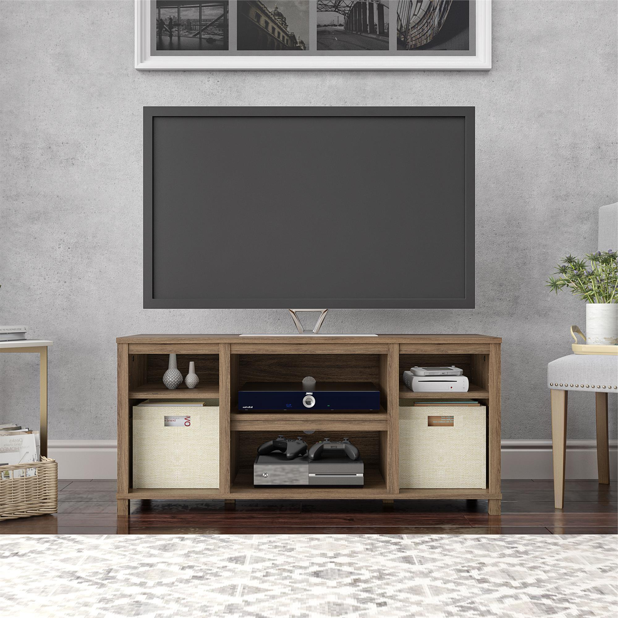"""2018 Mclelland Tv Stands For Tvs Up To 50"""" Within Mainstays Parsons Cubby Tv Stand For Tvs Up To 50"""", Rustic (View 2 of 25)"""