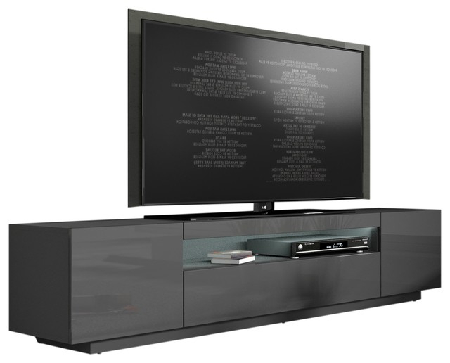 """2018 Miami 200 Modern 90"""" Tv Stand High Gloss Front, 16 Colors With Regard To Milano 200 Wall Mounted Floating Led 79"""" Tv Stands (View 10 of 10)"""