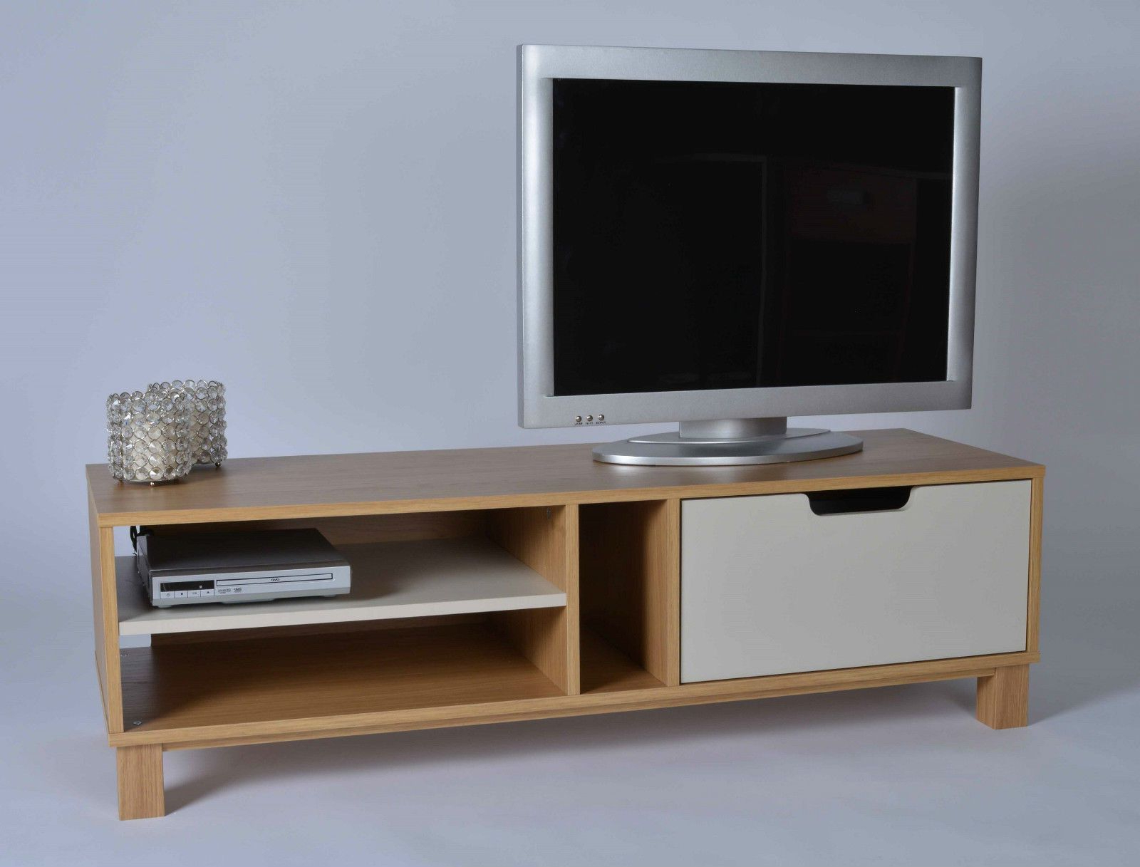 2018 Owen Retro Tv Unit Stands In Retro Tv Stand Wooden White Drawer Shelves Storage Unit (View 1 of 25)