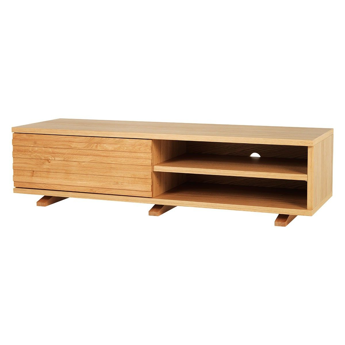2018 Scandi 2 Drawer White Tv Media Unit Stands In Enzo Oak Tv Stand With One Storage Drawer £495 – Also (View 8 of 10)