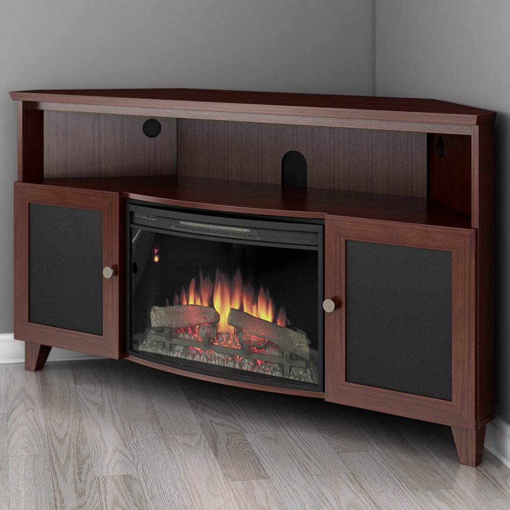"""2018 Stamford Tv Stands For Tvs Up To 65"""" In Furnitech Ft61sccfb Shaker Corner Tv Stand Console With (View 8 of 25)"""