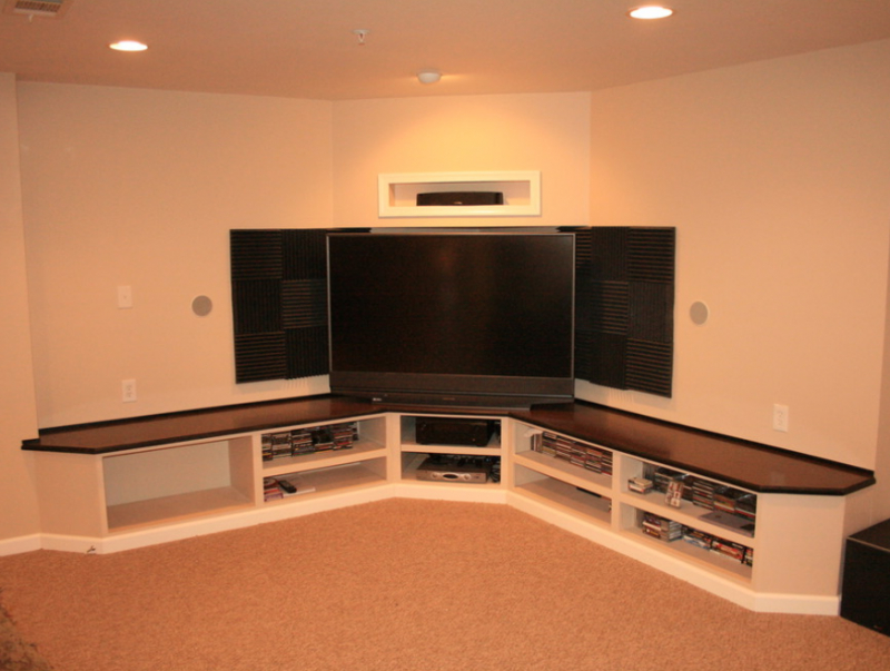 37+ Creative Diy Corner Tv Stand Designs And Ideas For Inside Fashionable Priya Corner Tv Stands (View 15 of 25)