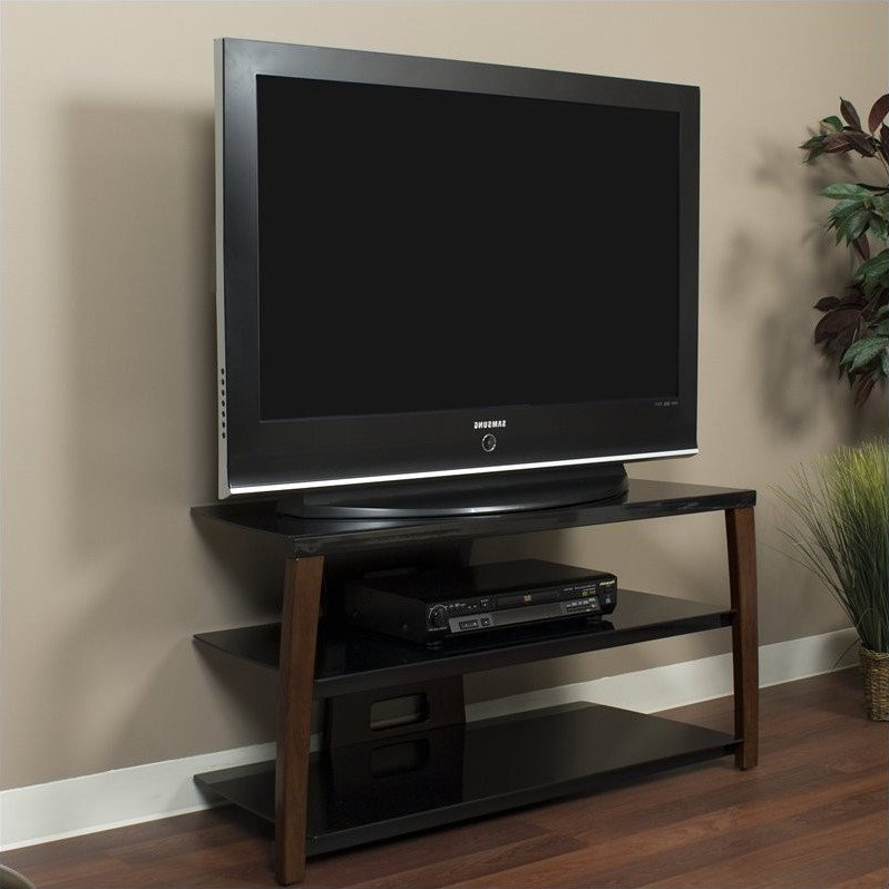 42 Inch Wide Plasma/lcd Tv Stand In Walnut Finish – Xii42w Pertaining To Well Liked Orsen Wide Tv Stands (View 10 of 25)