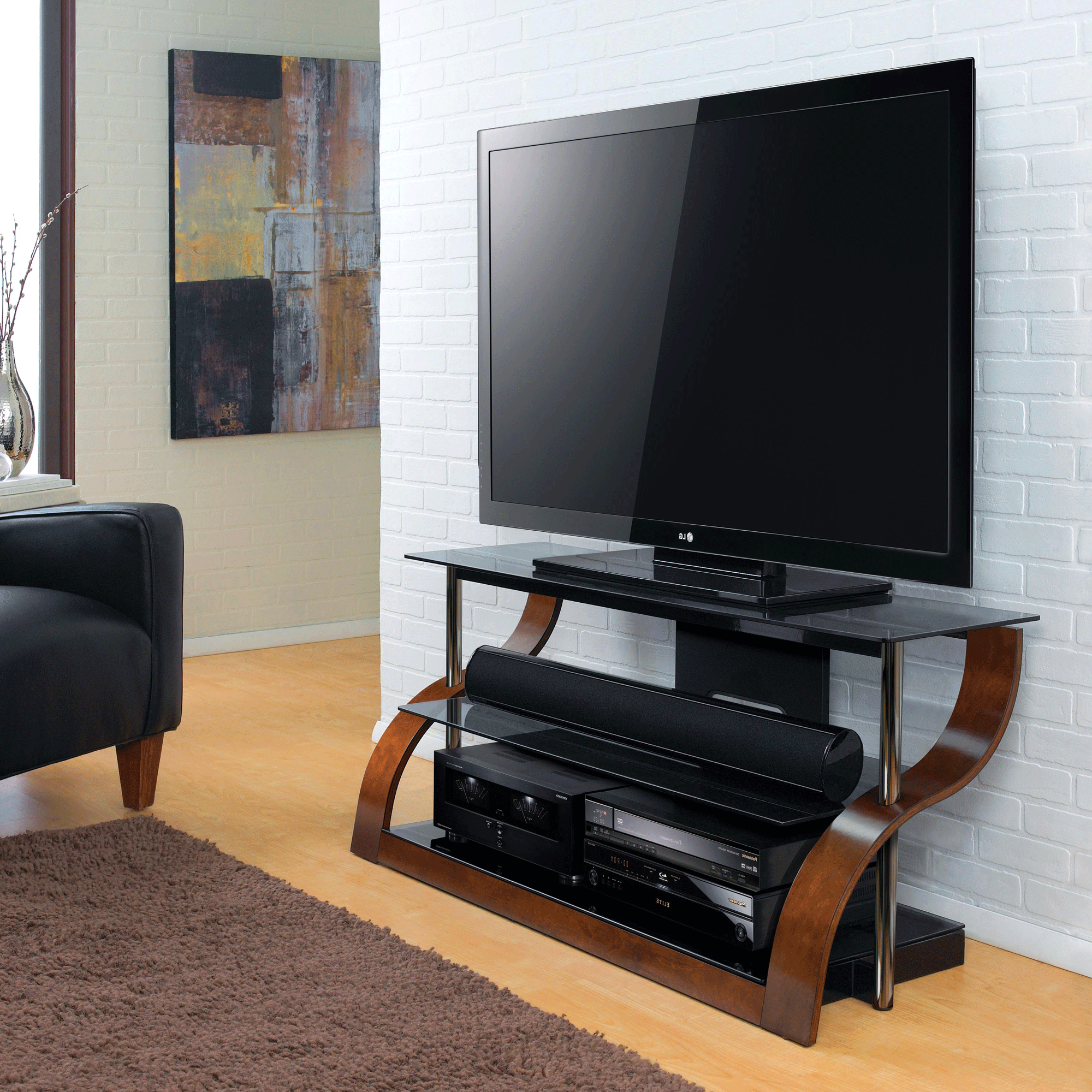 """52"""" Tv Stand For Tvs Up To 55"""", Espresso – Bernie & Phyl's Inside Popular Lansing Tv Stands For Tvs Up To 55"""" (View 17 of 25)"""