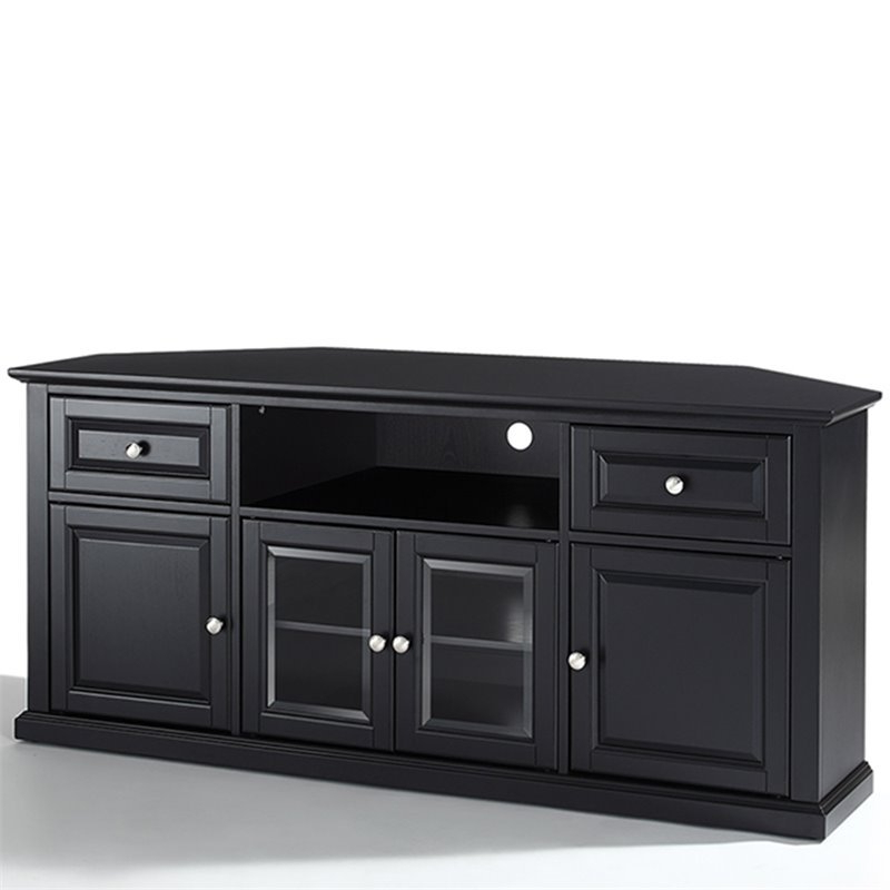 "60"" Corner Tv Stand In Black – Cf1000260 Bk In Latest Hex Corner Tv Stands (View 20 of 25)"
