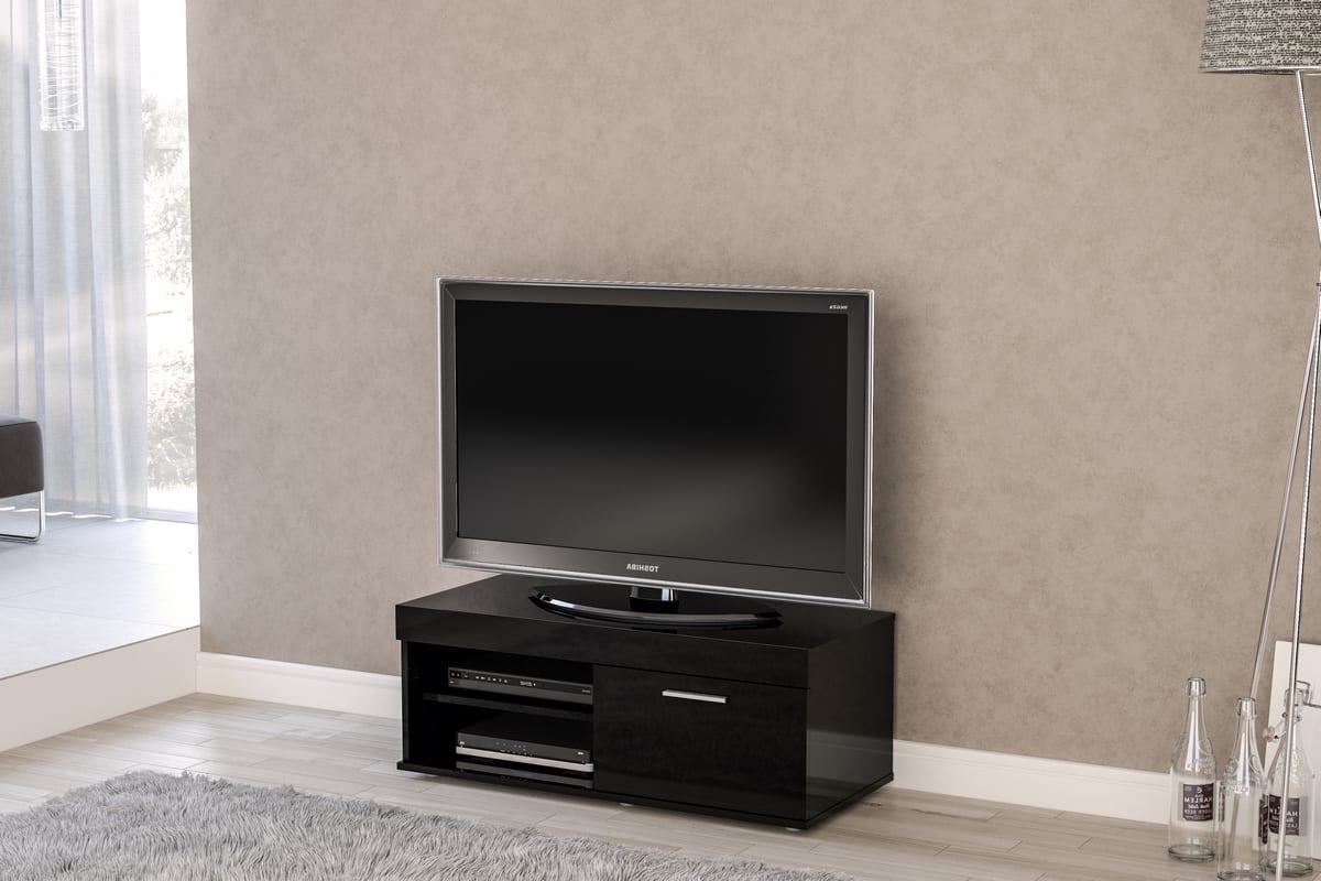 Black Edgeware Small Tv Stands (View 6 of 6)