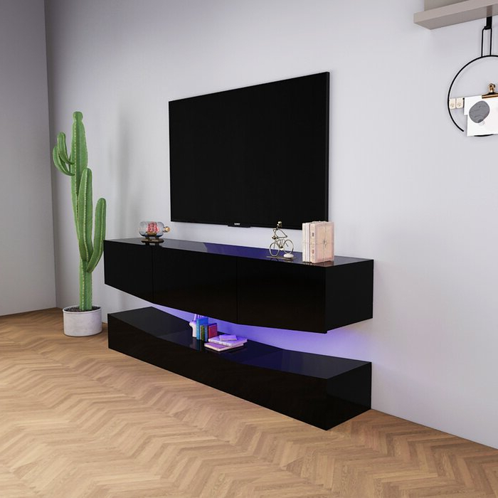 """Aaliyah Floating Tv Stands For Tvs Up To 50"""" Inside Trendy Ivy Bronx Evi Floating Tv Stand For Tvs Up To 50"""" (View 24 of 25)"""