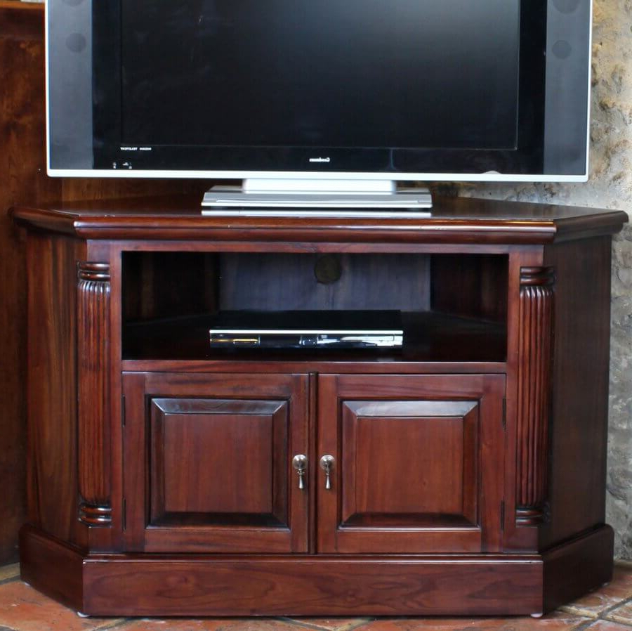 Abdabs Furniture – La Roque Mahogany Corner Tv Cabinet Intended For Favorite Corona Small Tv Stands (View 5 of 10)