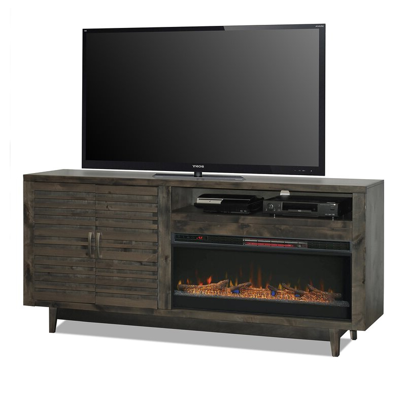 """Ailiana Tv Stands For Tvs Up To 88"""" Pertaining To Most Popular Union Rustic Nico Tv Stand For Tvs Up To 88"""" With Electric (View 7 of 25)"""