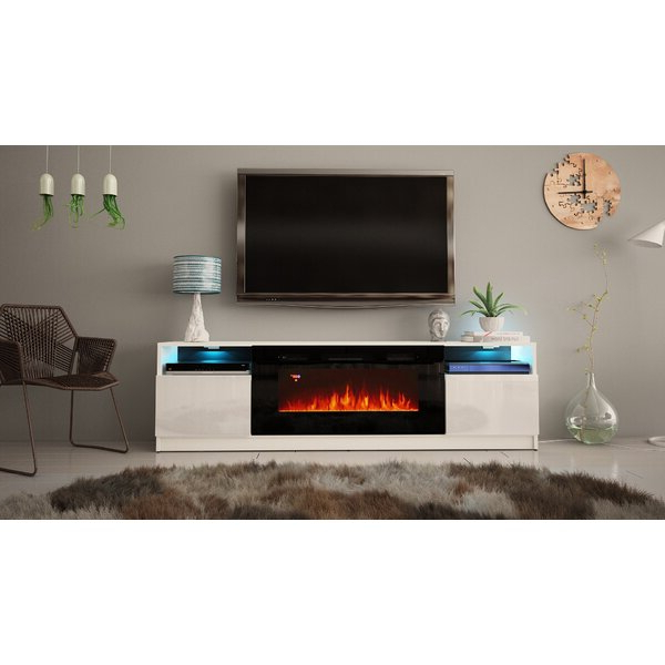"""Ailiana Tv Stands For Tvs Up To 88"""" Throughout Fashionable Orren Ellis Delaine Tv Stand For Tvs Up To 88"""" With (View 4 of 25)"""