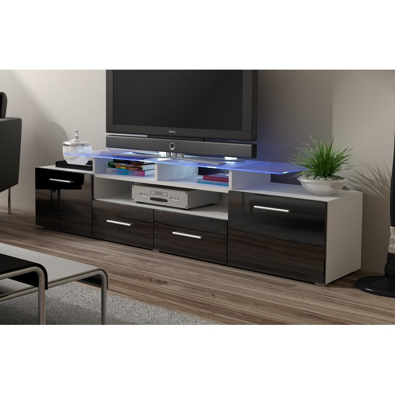"""Ailiana Tv Stands For Tvs Up To 88"""" With Recent Orren Ellis Darrie Tv Stand For Tvs Up To 88"""" & Reviews (View 6 of 25)"""