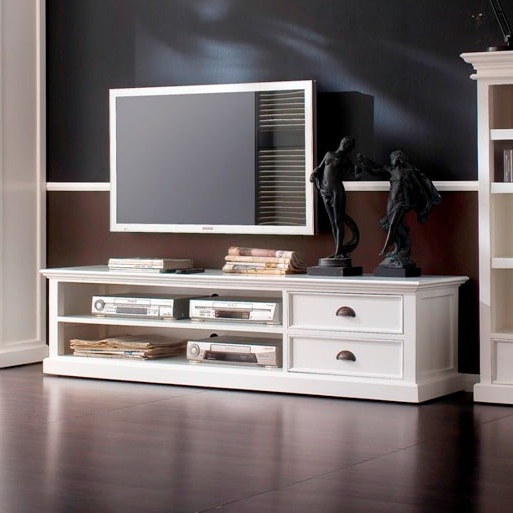 Akd Furniture In Hannu Tv Media Unit White Stands (View 3 of 10)