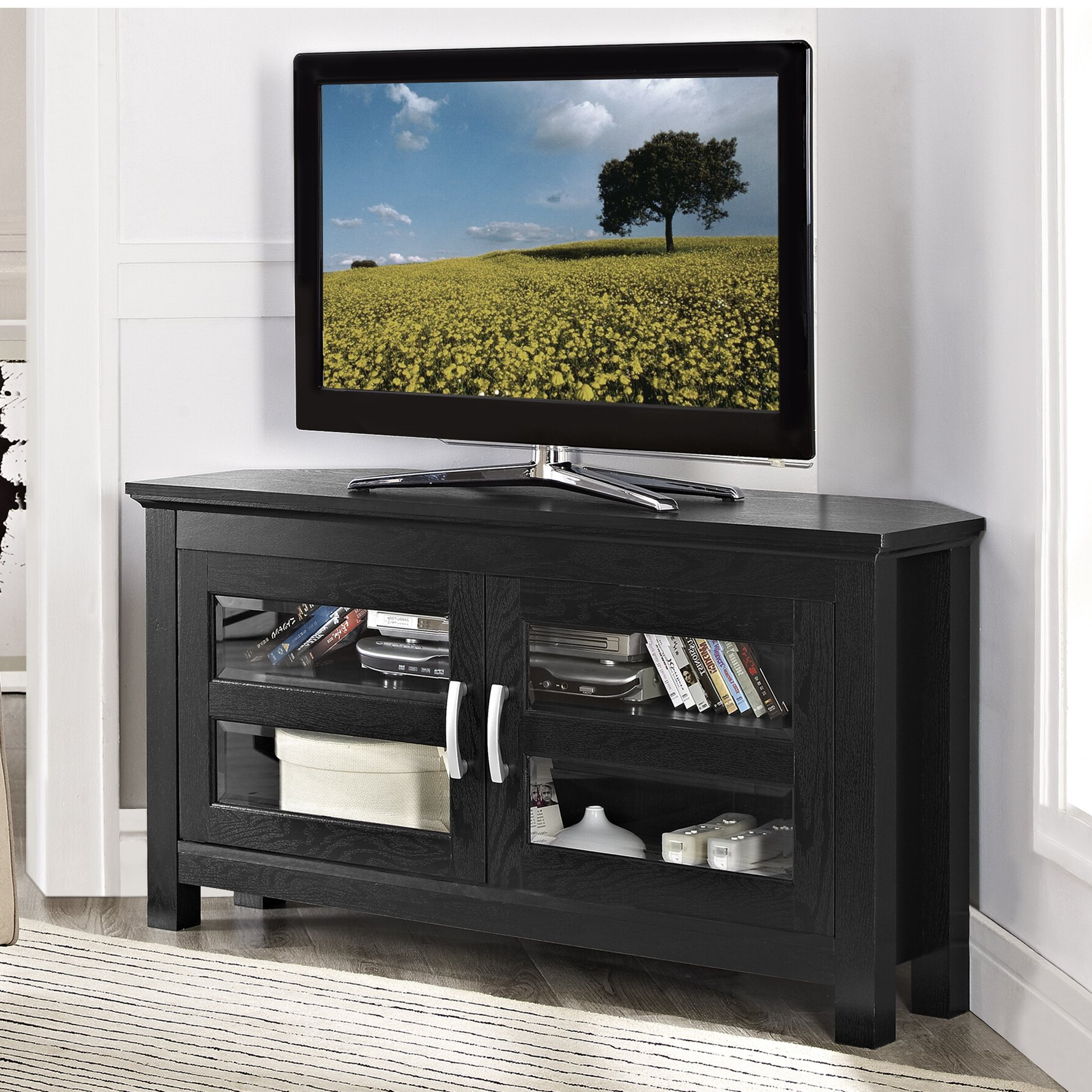 Alcott Hill Sulyard Wood Corner Tv Stand & Reviews (View 2 of 25)