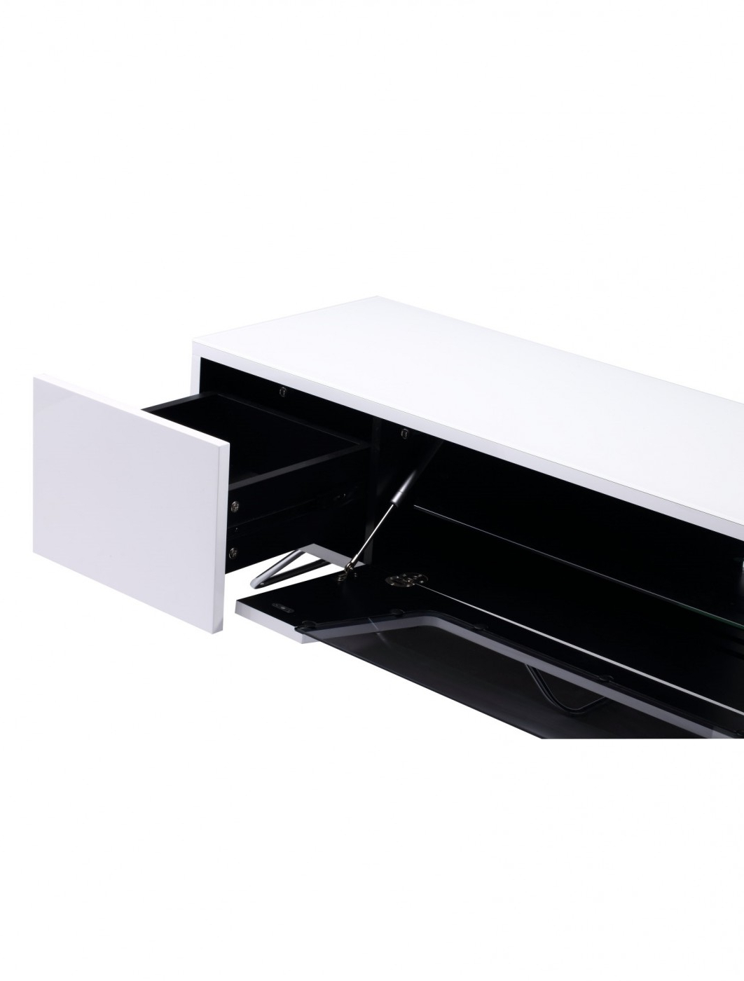 Alphason Chromium Cantilever Tv Stand Cro2 1600bkt Wh Inside Well Known Chromium Tv Stands (View 18 of 25)