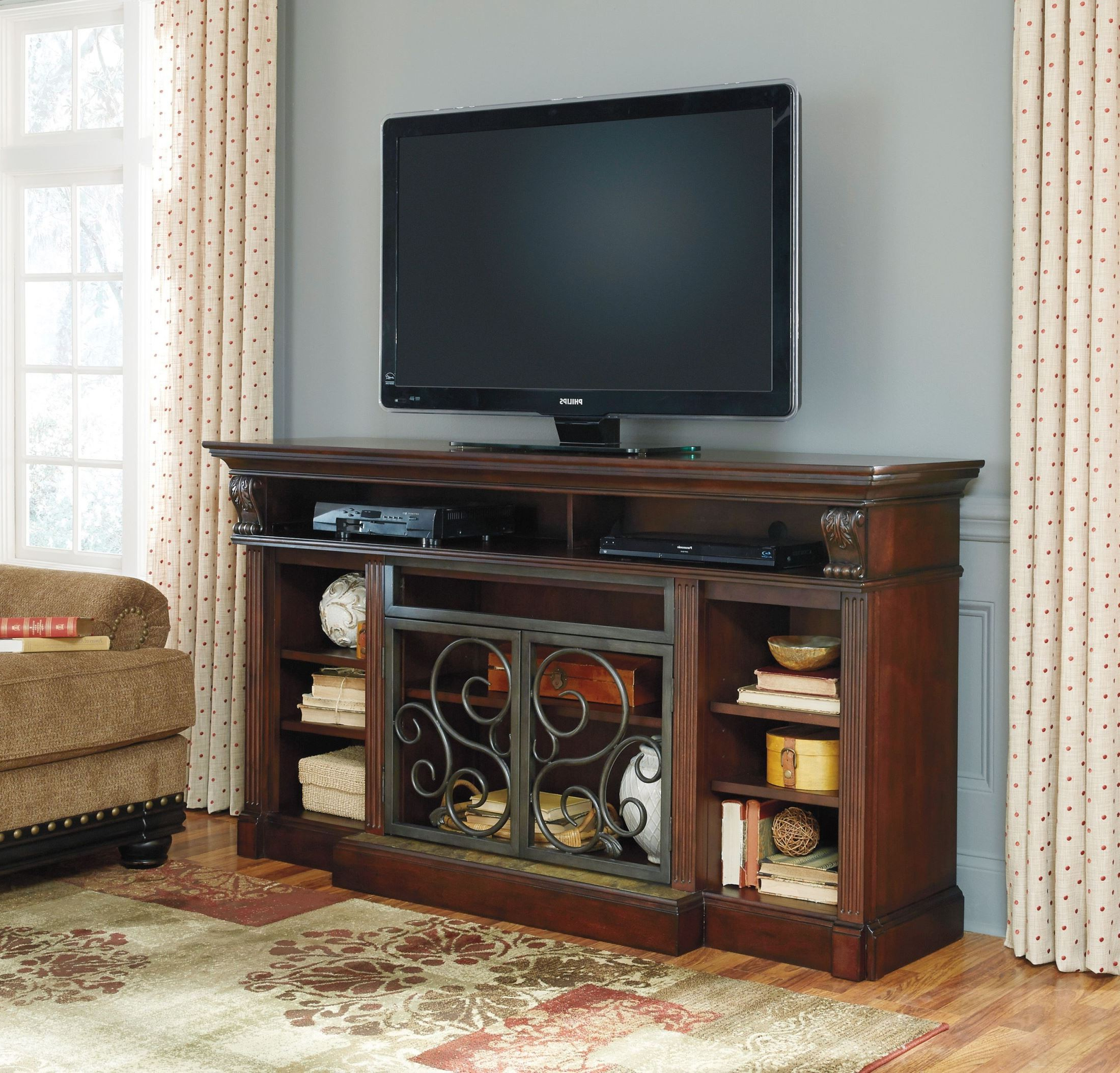 Alymere Extra Large Tv Stand With Fireplace Insert From Intended For Trendy Carbon Extra Wide Tv Unit Stands (View 9 of 10)