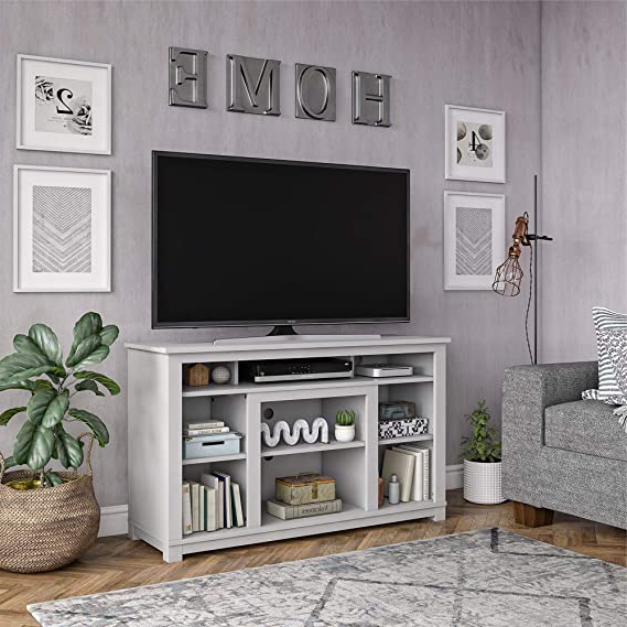 """Amazon: Ameriwood Home Edgewood 55"""", Dove Gray Tv Pertaining To Well Liked Penelope Dove Grey Tv Stands (View 8 of 10)"""