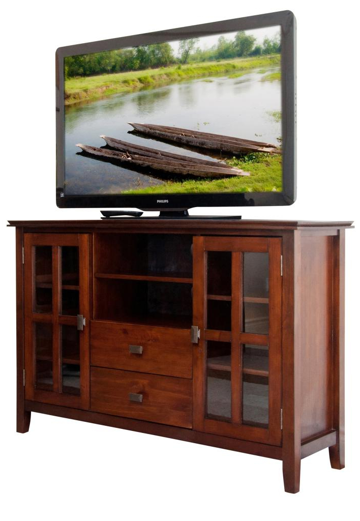 """Amazon: Simpli Home Artisan Tv Media Stand For Tvs Up Pertaining To Well Liked Farmhouse Tv Stands For 75"""" Flat Screen With Console Table Storage Cabinet (View 3 of 10)"""