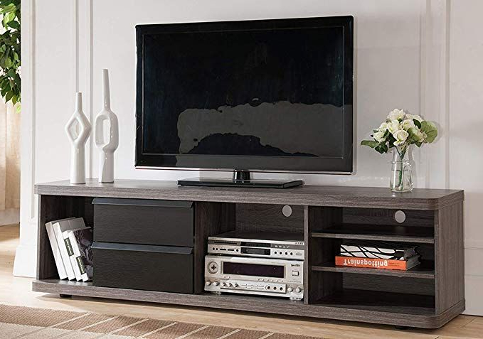 """Amazon: Smart Home Nubila 70 Inch Tv Stand Media Regarding Most Current Kinsella Tv Stands For Tvs Up To 70"""" (View 11 of 25)"""