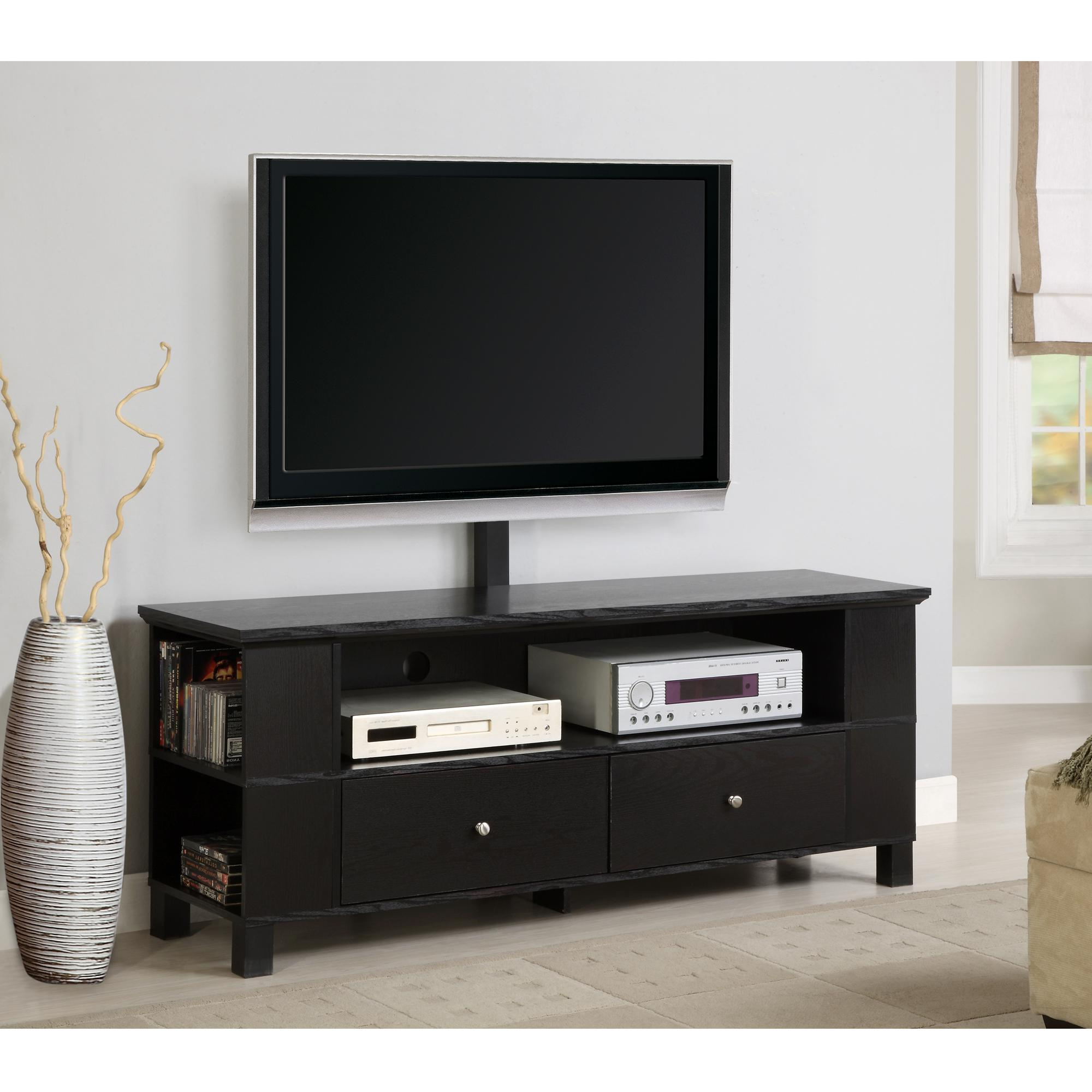"""Amazon – Walker Edison 60"""" Class Black Wood Tv Stand With Well Known Kasen Tv Stands For Tvs Up To 60"""" (View 6 of 25)"""