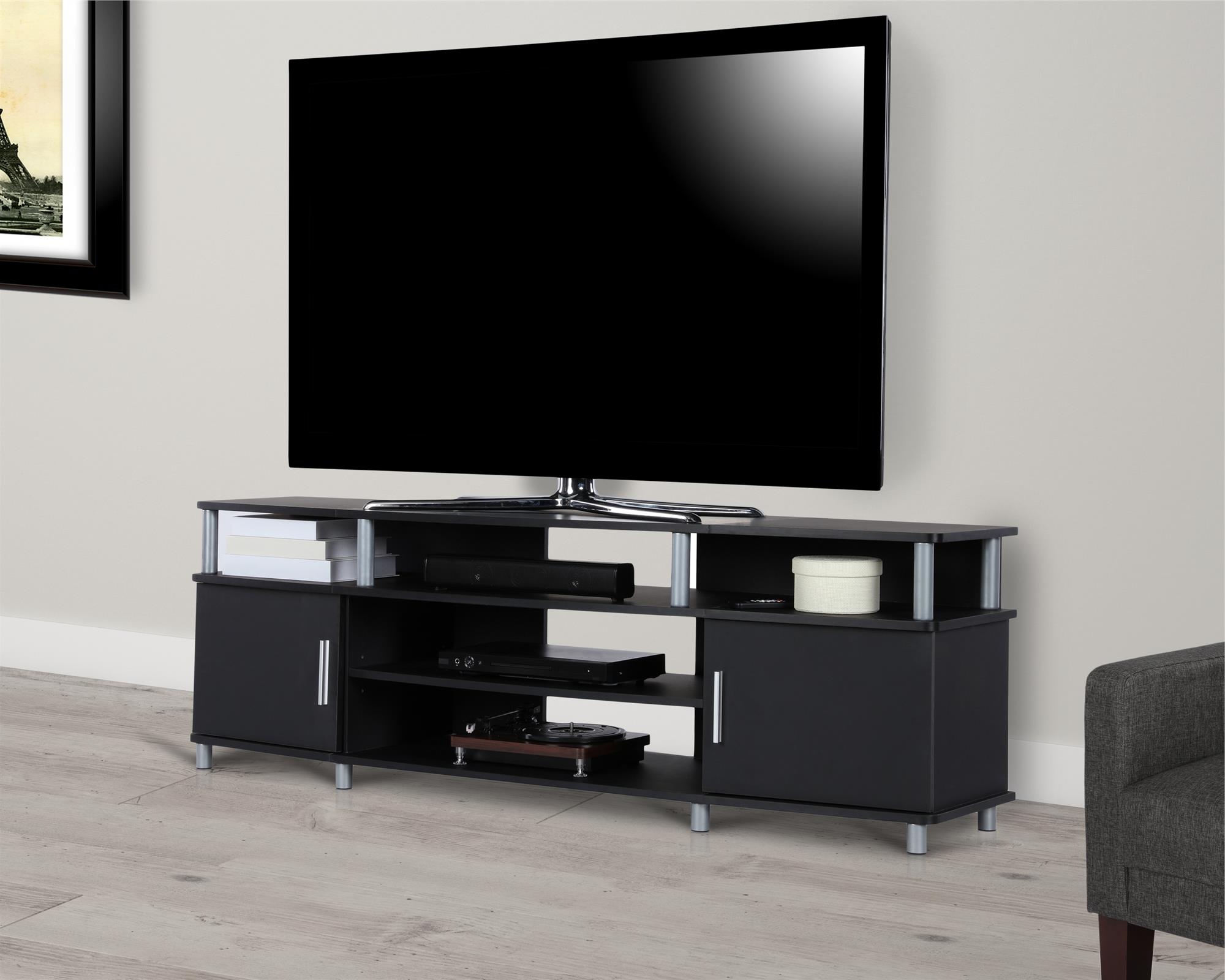 """Ameriwood Home Carson Tv Stand For Tvs Up To 70"""", Multiple Intended For Best And Newest Mainstays Tv Stands For Tvs With Multiple Colors (View 8 of 10)"""