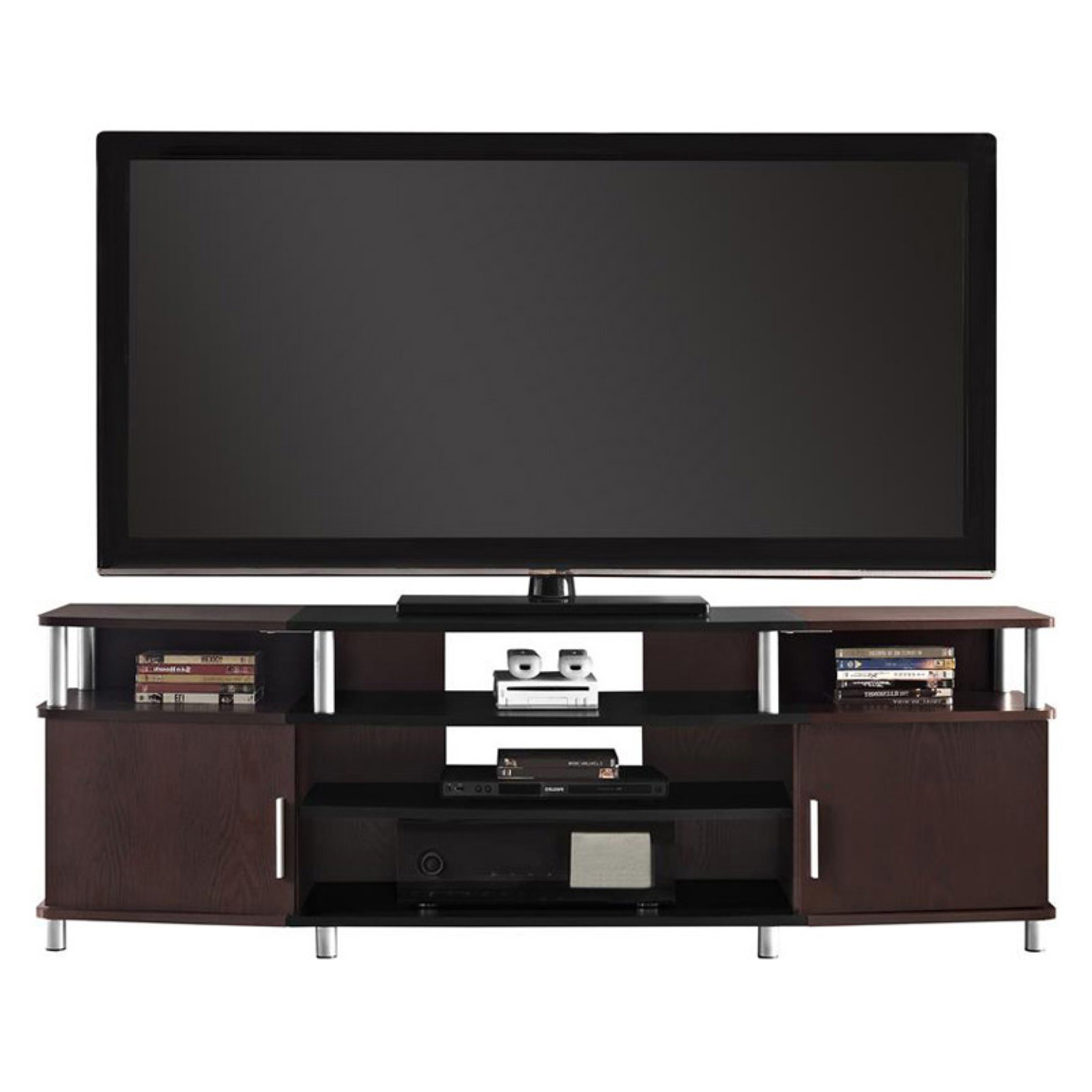 """Ameriwood Home Carson Tv Stand For Tvs Up To 70"""", Multiple With Regard To Trendy Carson Tv Stands In Black And Cherry (View 7 of 10)"""