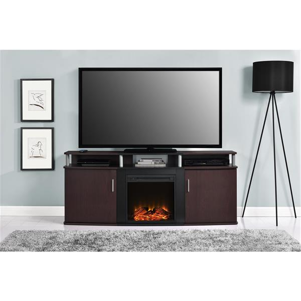 Ameriwood Home Carson Tv Stand With Electric Fireplace For Inside Famous Ameriwood Home Carson Tv Stands With Multiple Finishes (View 5 of 10)