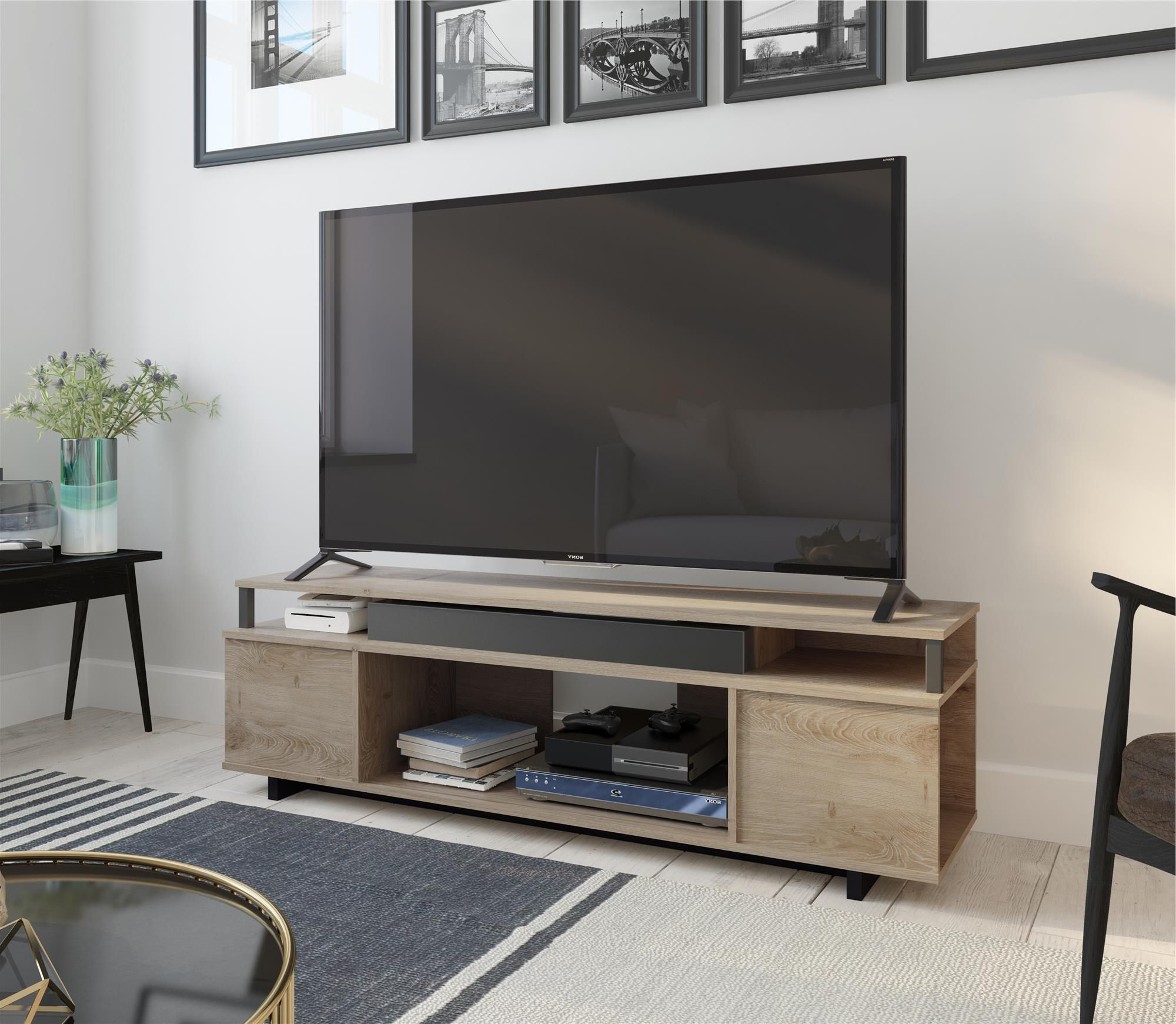 Ameriwood Home Carson Tv Stands With Multiple Finishes Regarding Most Popular Ameriwood Home Kensington Place Tv Stand For Tvs Up To  (View 8 of 10)