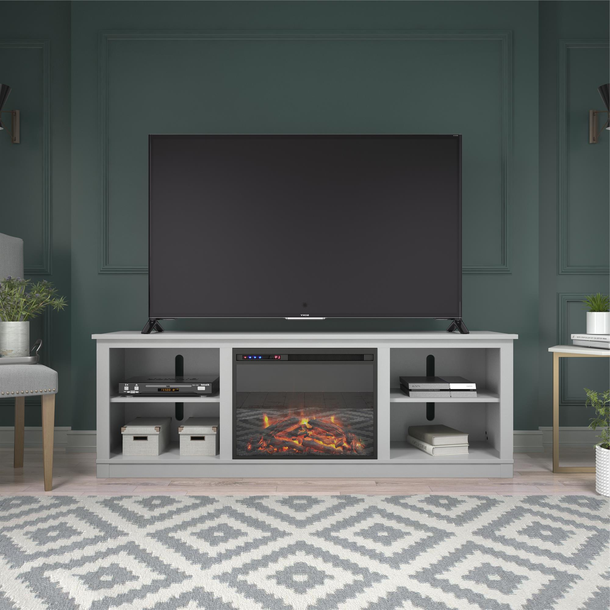 """Ameriwood Home Kahle Fireplace Tv Stand For Tvs Up To 75 With Regard To Well Known Mainor Tv Stands For Tvs Up To 70"""" (View 2 of 25)"""