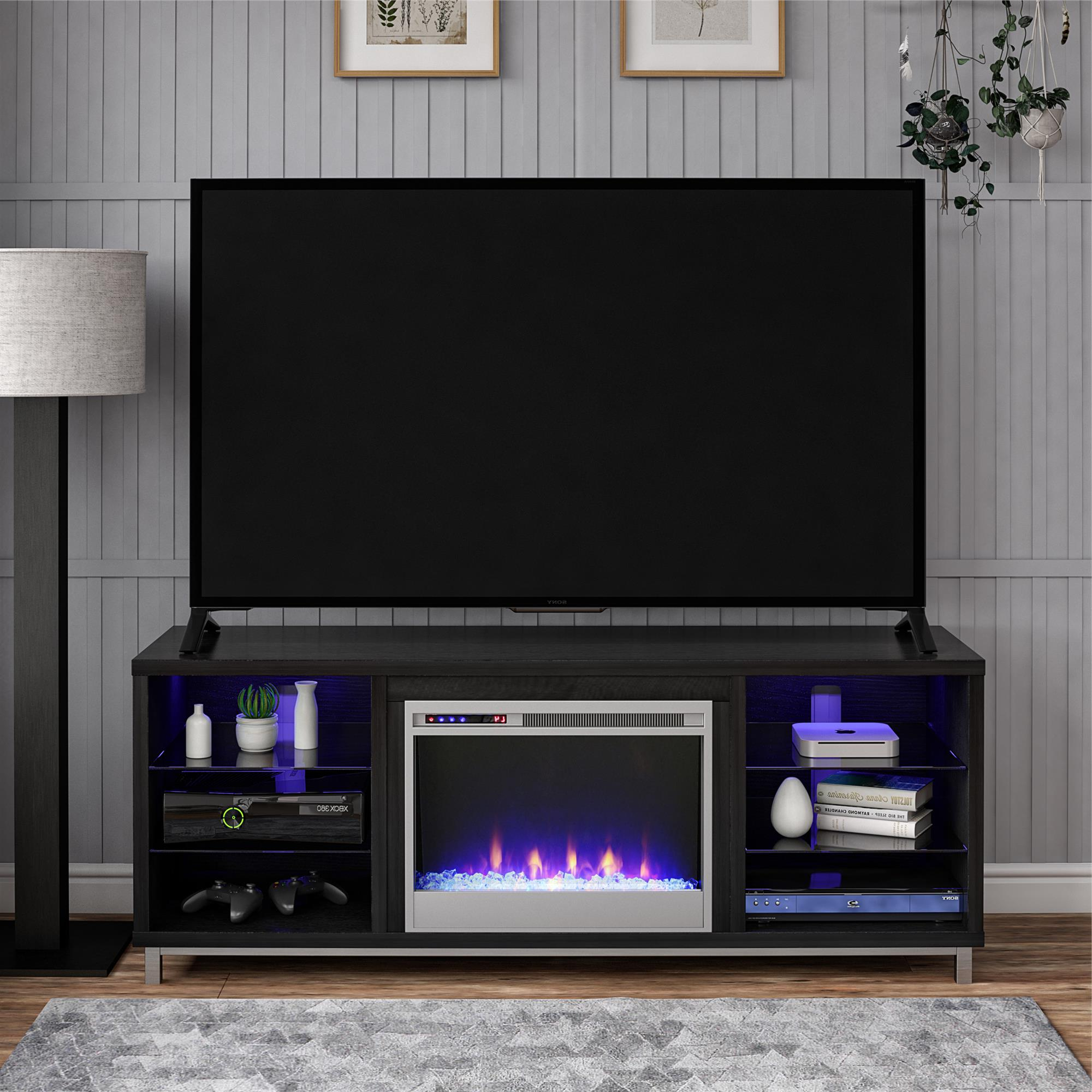 Ameriwood Home Lumina Fireplace Tv Stand For Tvs Up To 70 In Well Known Indi Wide Tv Stands (View 5 of 25)